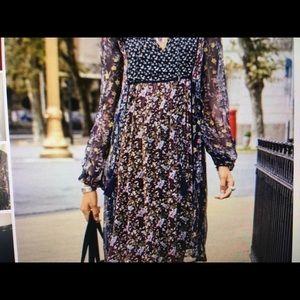 SUNDANCE FLORAL PRINT DRESS SIZE M